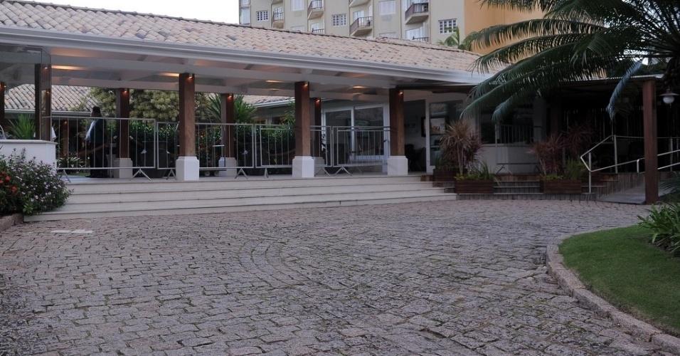 25.maio.2013 - Fachada do hotel onde foi realizado o casamento de Paulo Henrique Ganso e Giovanna Costi Gonçalves