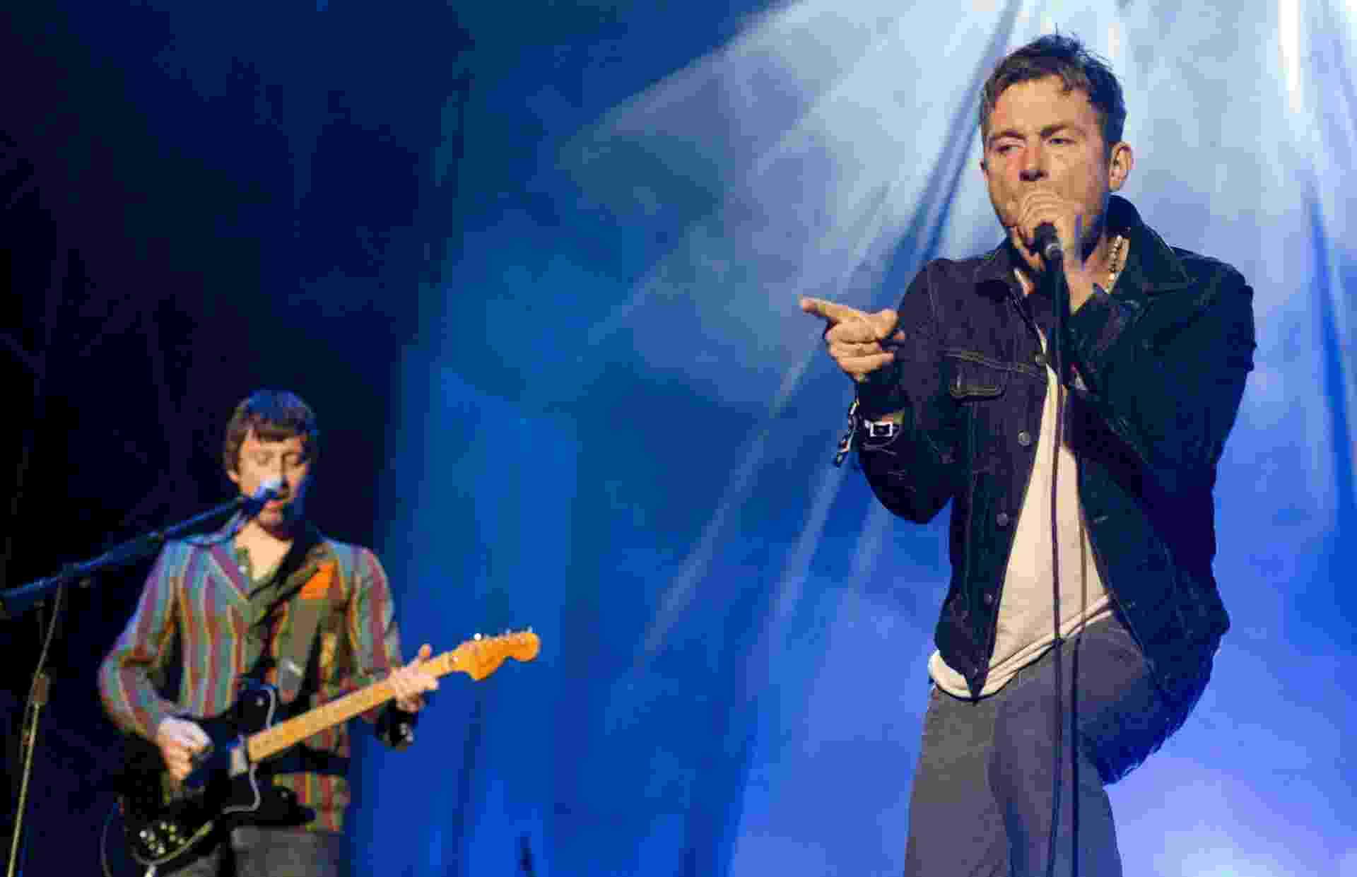 25.mai.2013 - A banda Blur se apresenta no Primavera Sound, em Barcelona - Alejandro García/EFE
