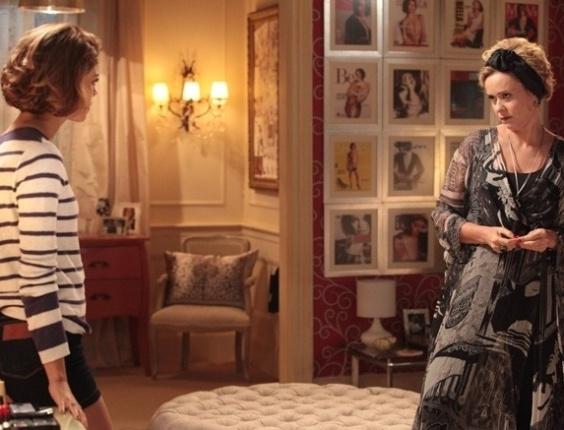 """Em """"Sangue Bom"""", Bárbara fica furiosa ao saber de beijo entre Amora e Bento"""