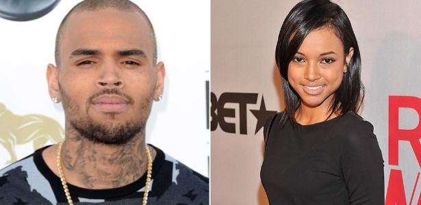 O cantor Chris Brown e a modelo Karrueche Tran