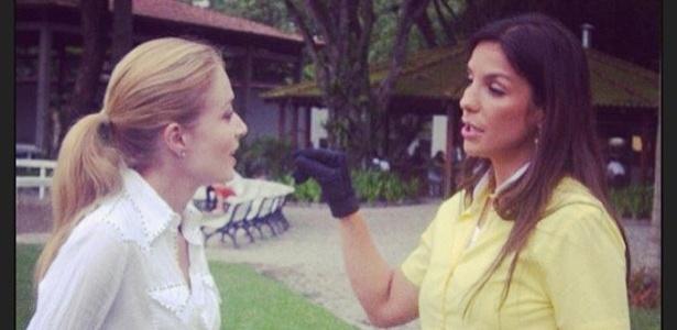 27.mai.2013 - No aniversário de 41 anos de Ivete Sangalo, apresentadora Angélica publica foto ao lado da cantora e deseja felicidades