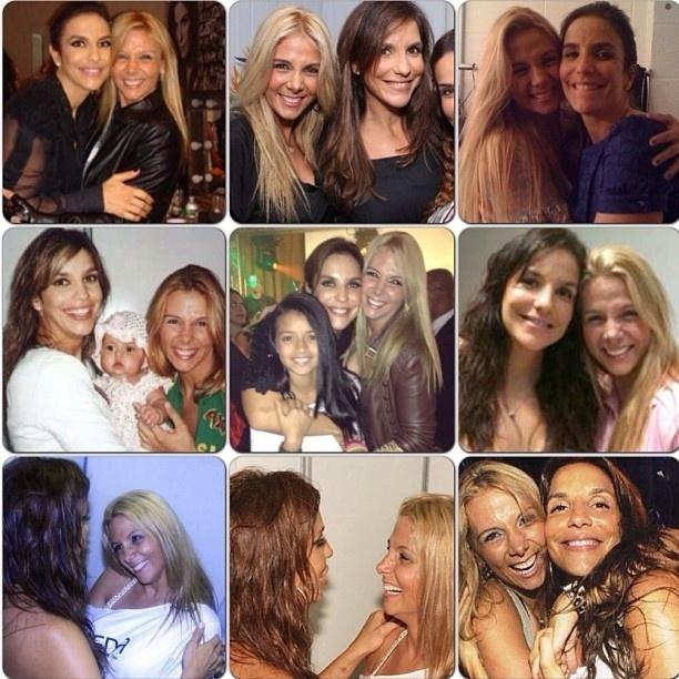 27.mai.2013 - No aniversário de 41 anos de Ivete Sangalo, Carla Perez posta montagem de várias fotos com a cantora de axé.