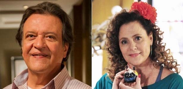 """Em """"Amor À Vida"""", Luis Melo e Elizabeth Savalla são o administrador Atílio e a ex-chacrete Márcia, respectivamente"""