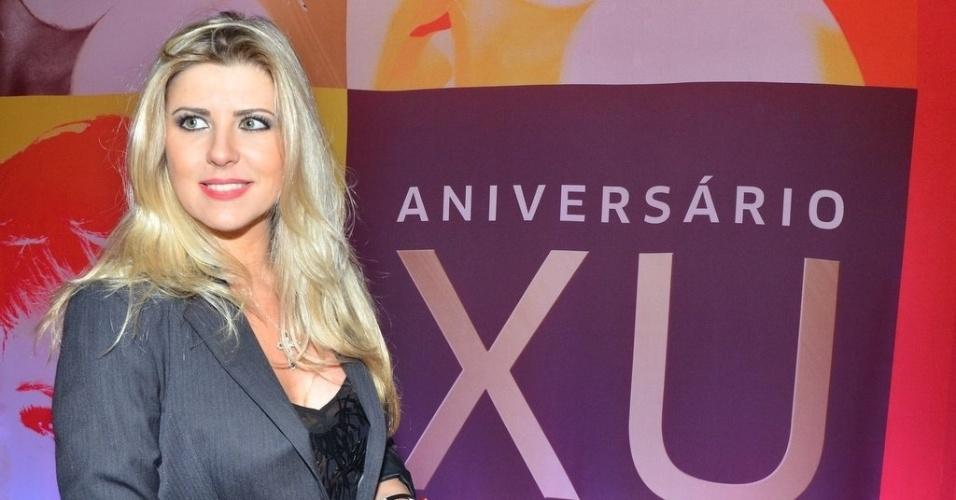 28.mai.2013 - Iris Stefanelli assumiu que sempre sonhou em ser paquita e que por isso não poderia ficar de fora da festa de 50 anos da Xuxa.
