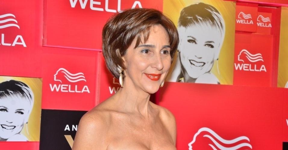 28.mai.2013- Irmã de Ayrton Senna, ex-namorado de Xuxa, a empresária Viviane Senna desejou toda a felicidade para a apresentadora