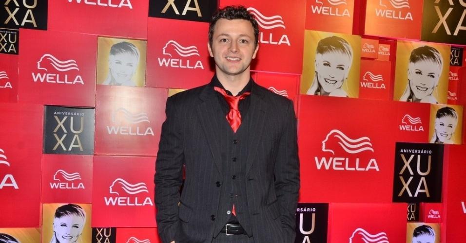 28.mai.2013- Lucas Lima na festa de 50 anos de Xuxa, em hotel de São Paulo