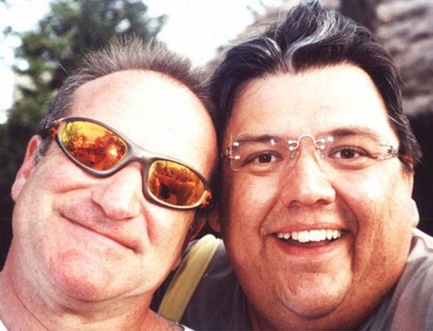 Márcio Ribeiro com o ator norte-americano Robin Williams
