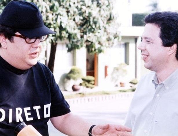 """Márcio Ribeiro entrevista o professor Pasquale para matéria do """"X Tudo"""", programa da Cultura que apresentou por cinco anos"""