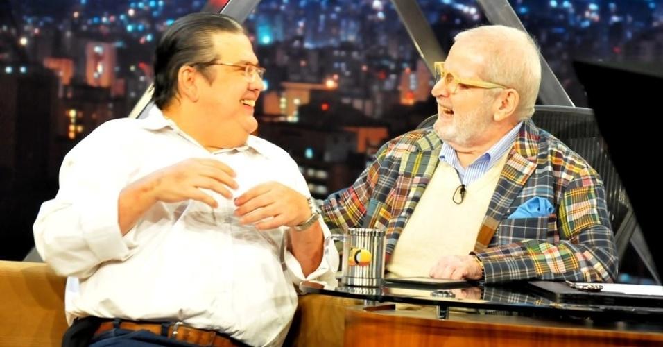 """Márcio Ribeiro foi entrevistado por Jô Soares no """"Programa do Jô"""" em 2011."""