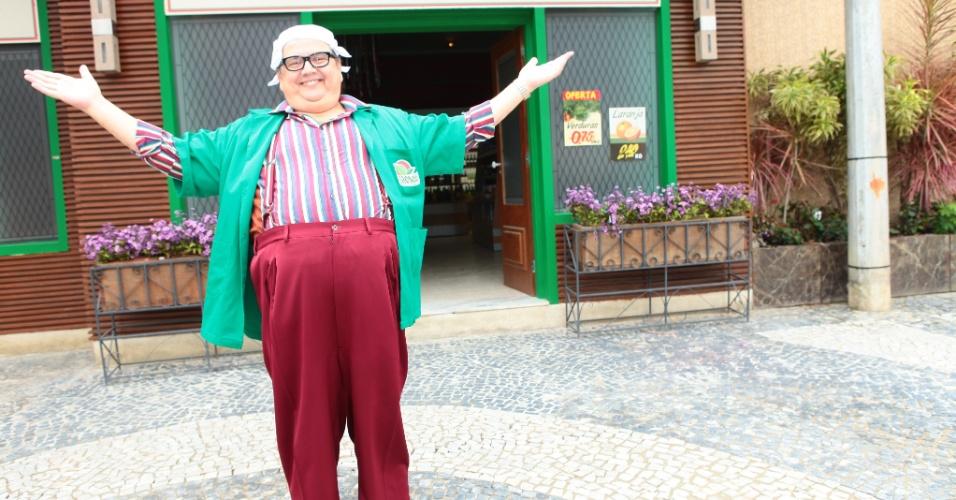 """Márcio Ribeiro interpretou o vendedor Broncoli no humorístico """"Os Caras de Pau"""", da Globo, em 2012"""