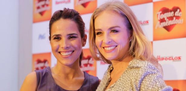 Wanessa e Angélica falaram sobre cuidados com os filhos durante evento em São Paulo - Fernando Donasci/UOL