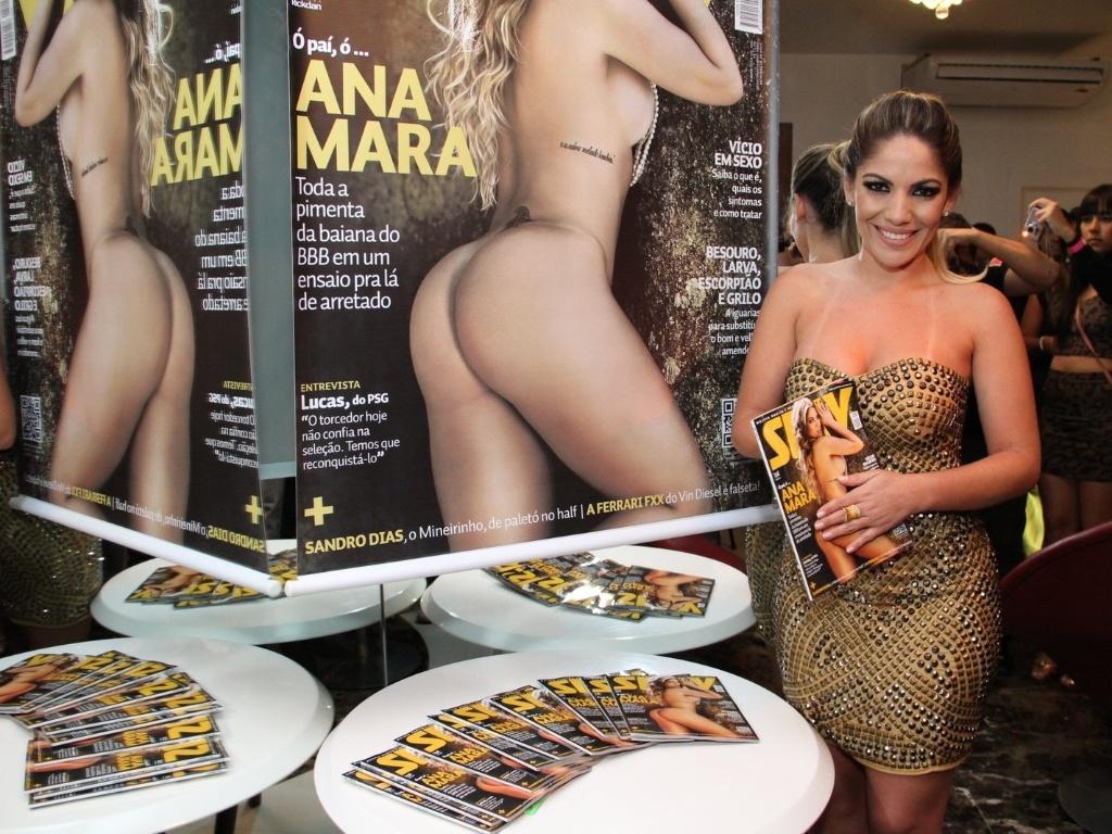 29.mai.2013 - Anamara no lançamento da revista Sexy com seu ensaio nu em boate na Barra da Tijuca, Rio de Janeiro