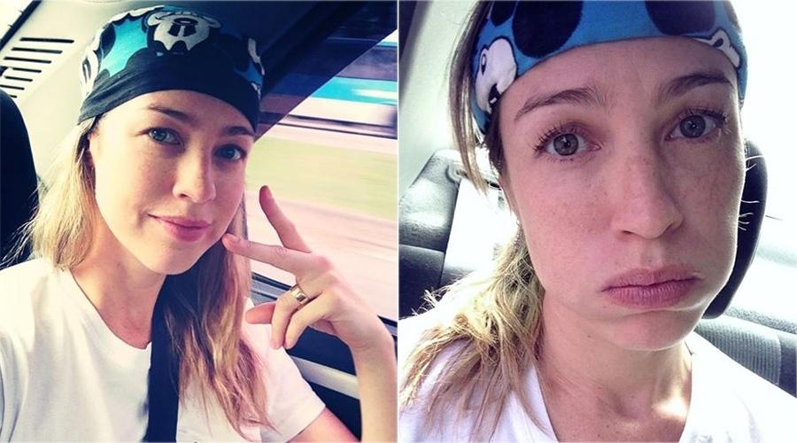 """30.mai.2013 - Luana Piovani, antes e depois de treinar para o """"Dança dos Famosos"""""""