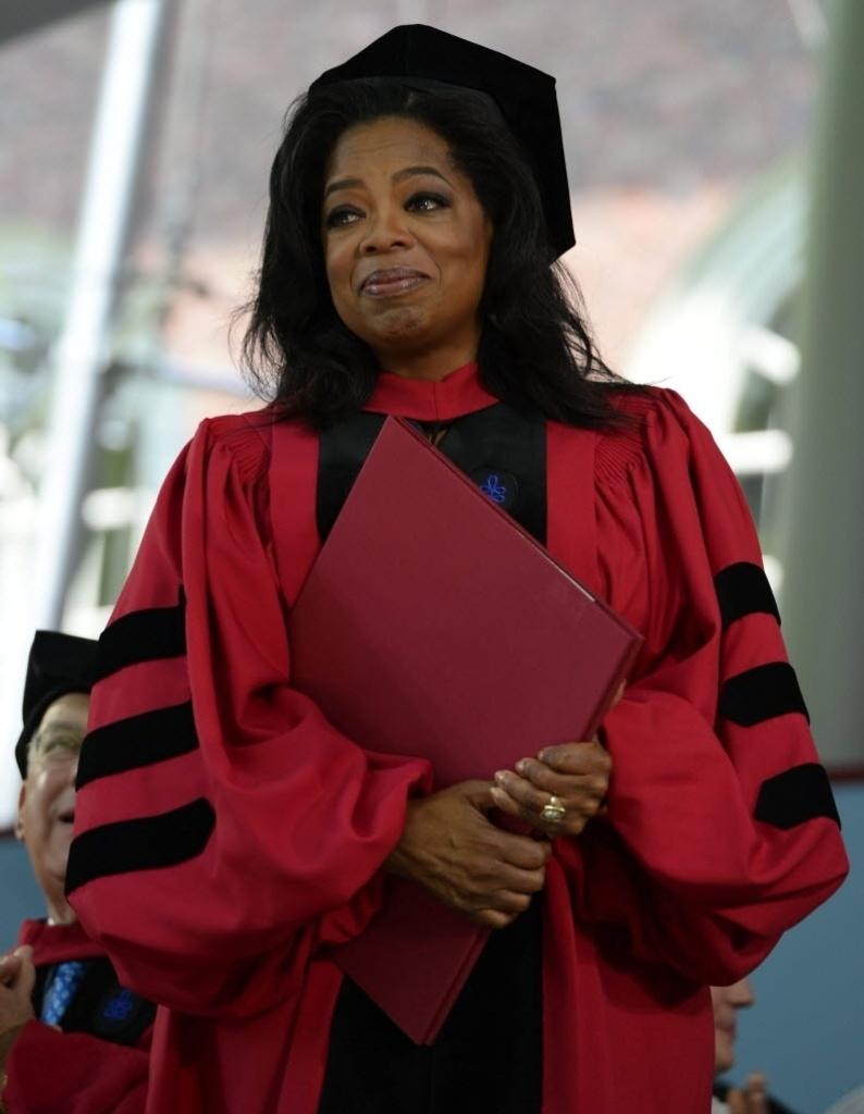 30.mai.2013 - Oprah Winfrey participa de cerimônia de graduação em Harvard