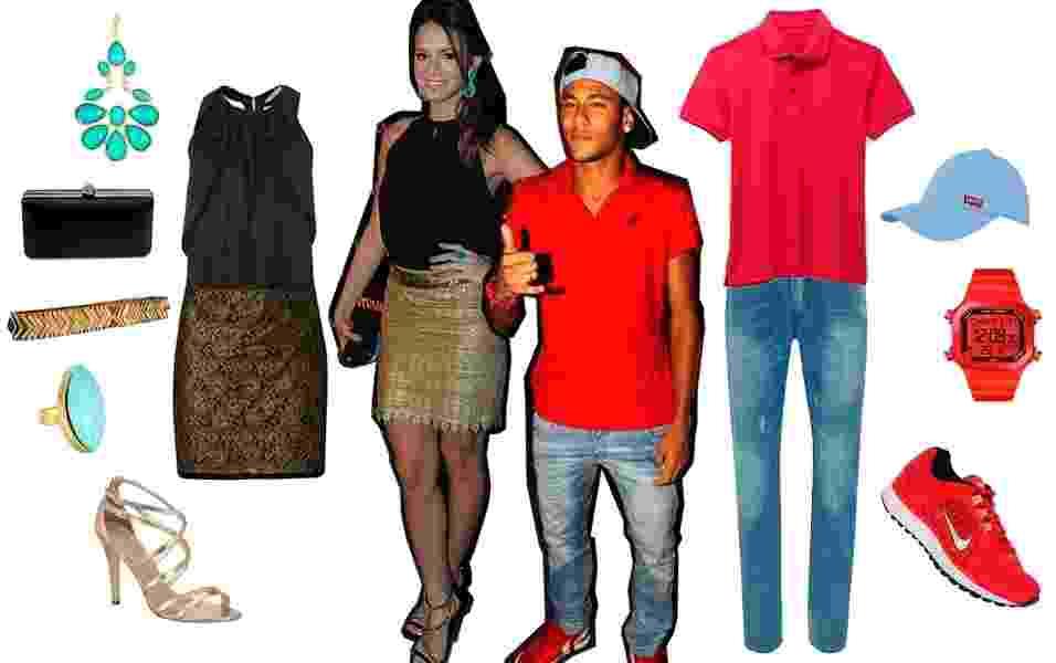 Look 1 - Bruna Marquezine e Neymar - Agnews e Divulgação
