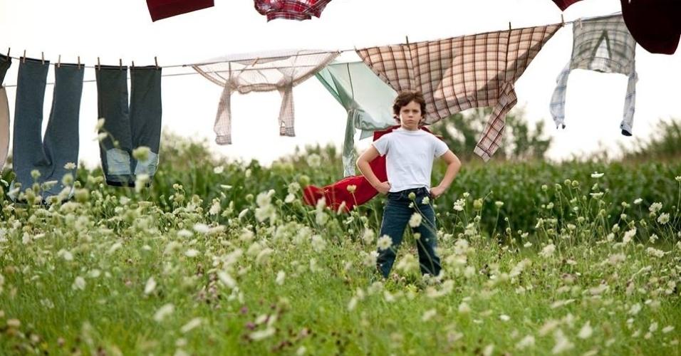 Cooper Timberline vive o Super-Homem aos 9 anos de idade em
