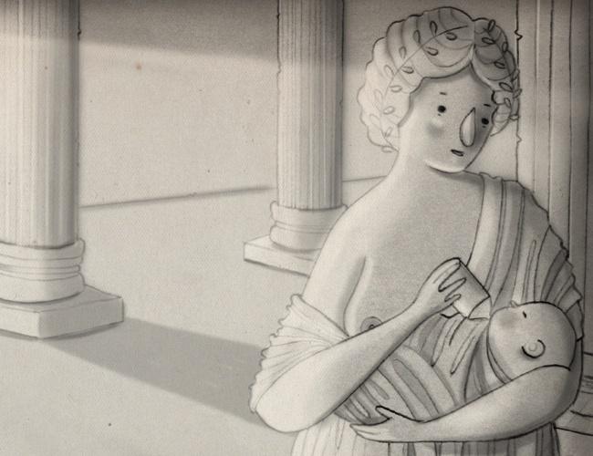 ilustração da coluna mamatraca sobre mitos da amamentação