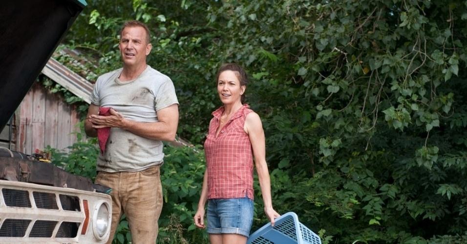 Kevin Costner e Diane Lane vivem os pais de Clark Kent em