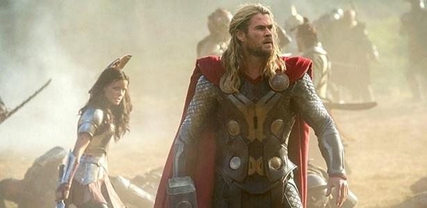 """Cena do filme """"Thor: O Mundo Sombrio"""", novo longa da franquia estrelada por Chris Hemsworth e Natalie Portman"""