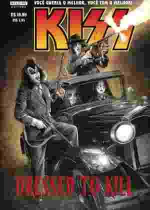"""Os integrantes da banda Kiss viram gangsteres na HQ """"Dressed To Kill"""", agora em português - Divulgação"""