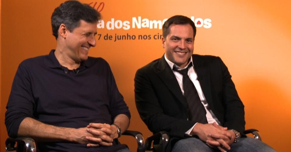 Roberto Santucci e Daniel Boaventura divulgam