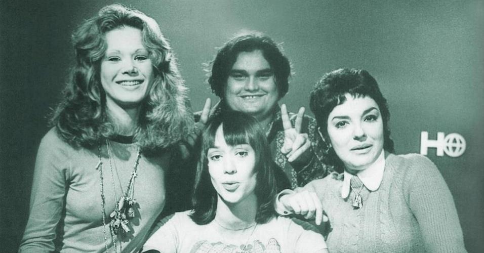 "Scarlet Moon com Marcia Mendes, Big Boy e Marisa Raja Gabaglia, equipe do ""Jornal da Globo"""