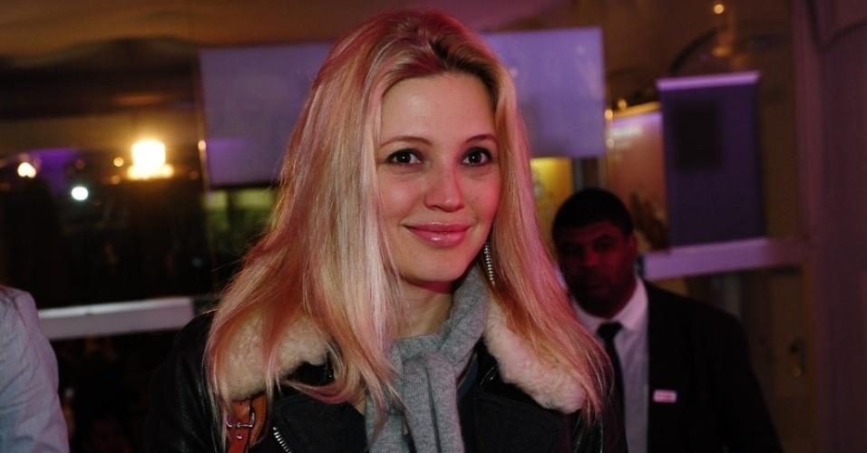 """5.jun.2013 - Patrícia de Sabrit na gravação do segundo episódio inédito de """"Sai de Baixo"""" no Teatro Procópio Ferreira, em São Paulo"""