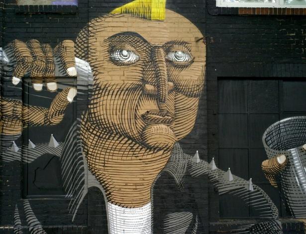 Grafite do brasileiro Nunca em muro de Berlim - Divulgação/UrbanSpree