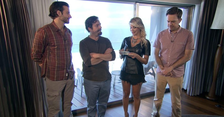 """Karina Bacchi entrevista o elenco de """"Se Beber Não Case 3"""" para o """"Domingo Legal"""". A entrevista está prevista para ir ao ar dia 9 de junho"""