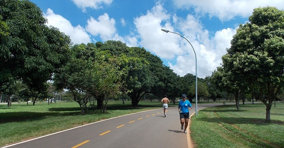 Procurado por moradores e atletas, o Parque da Cidade, localizado na porção sul do Plano Piloto, tem uma grande pista de corrida e ciclismo