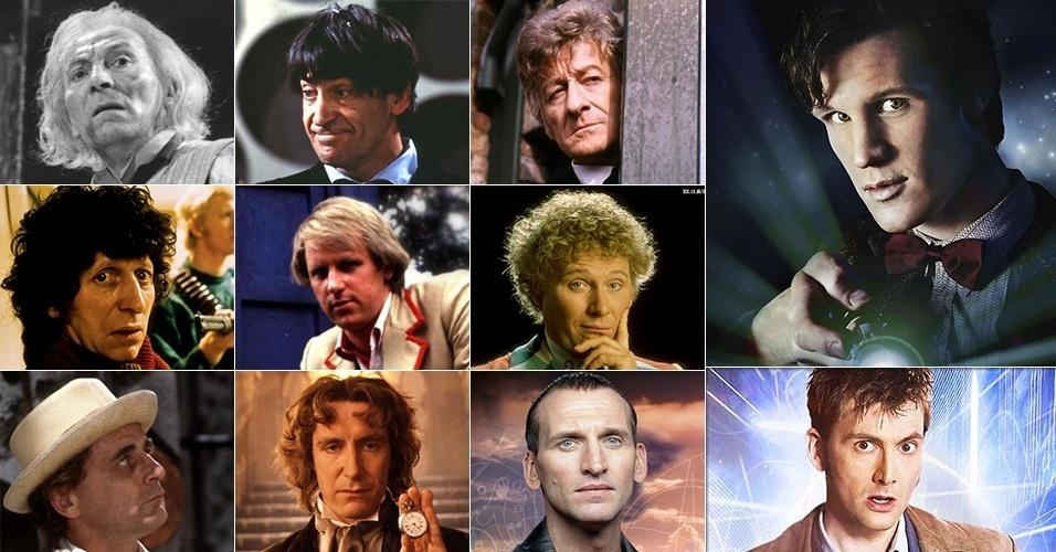 Todo os 11 intérpretes de Doctor Who