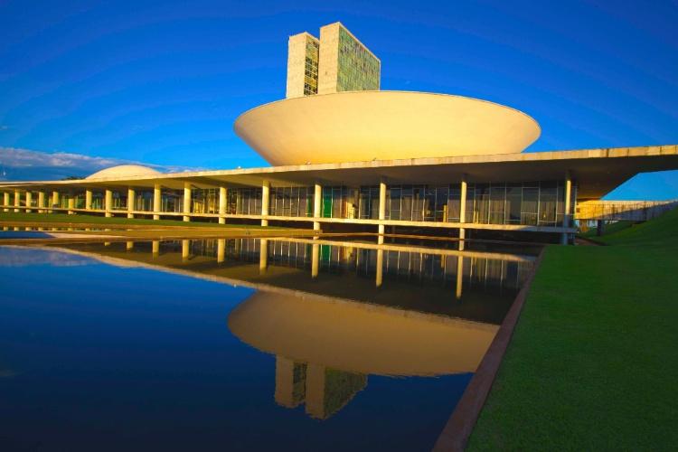O Congresso Nacional é famoso pelas duas cúpulas invertidas (do Senado e da Câmara dos Deputados), separadas por dois blocos verticais de 28 andares, com escritórios e gabinete