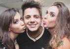 Anitta recebe Cristiano Araújo e Nicole Bahls em seu camarim do show em Brasília - Carlos Ramirez/Divulgação