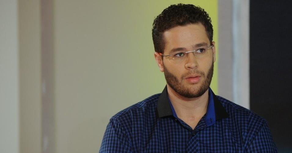 """10.jun.2013 - Pedro Leonardo em coletiva de imprensa do programa """"Festival Sertanejo"""", do SBT"""