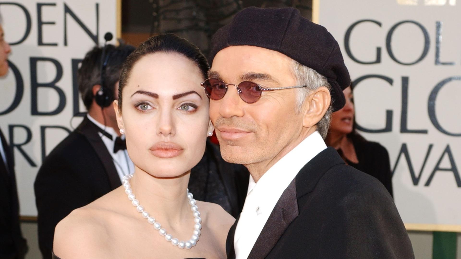 20.jan.2002 - Angelina Jolie e Billy Bob Thorton no Globo de Ouro