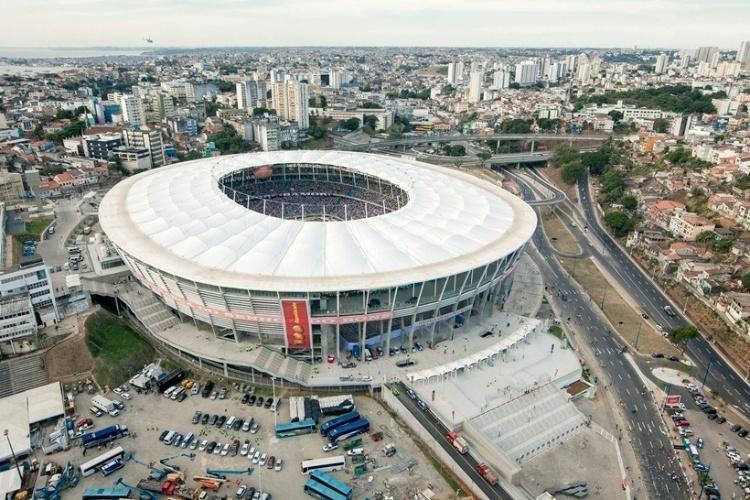 A Arena Fonte Nova foi erguida em um terreno de 116 mil m² e tem uma área construída de 90 mil m²