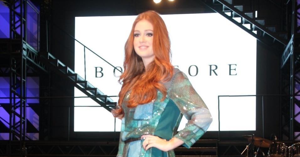 11.jun.2013 - Marina Ruy Barbosa desfila na loja BobStore no Shopping Rio design Barra