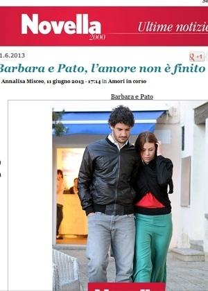 11.jun.2013 - Revista italiana flagra Alexandre Pato e Barbara Berlusconi juntos em viagem a Sardenha