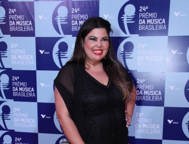 """12.jun.2013 - Fabiana Karla, a Perséfone da novela """"Amor à Vida"""", esteve no 24º Prêmio da Música Brasileira no Theatro Municipal do Rio de Janeiro"""