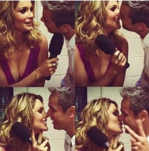 12.jun.2013 - Flávia Alessandra publica montagem de fotos com o marido Otaviano Costa para comemorar o dia dos namorados
