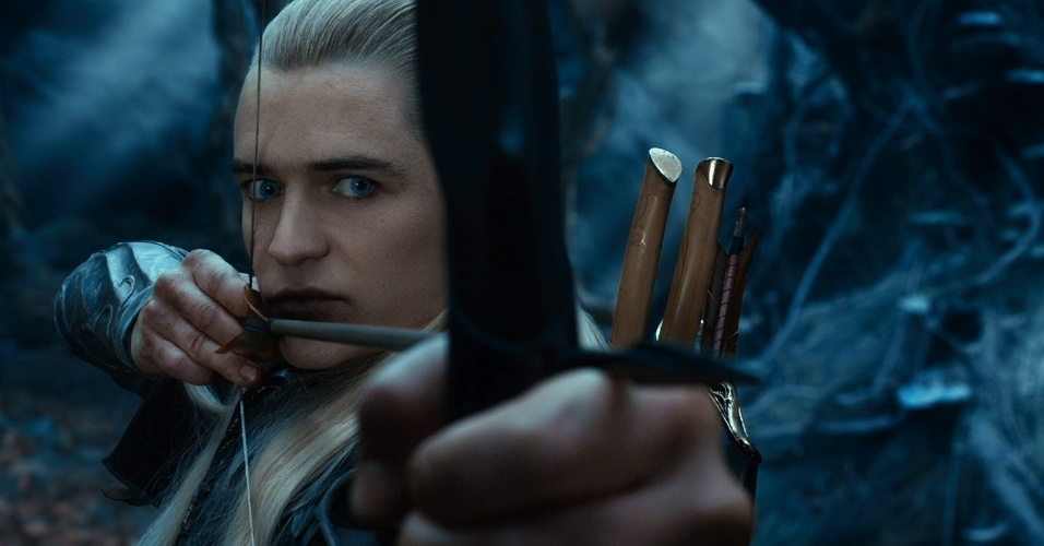 Legolas, interpretado por Orlando Bloom, em cena do filme