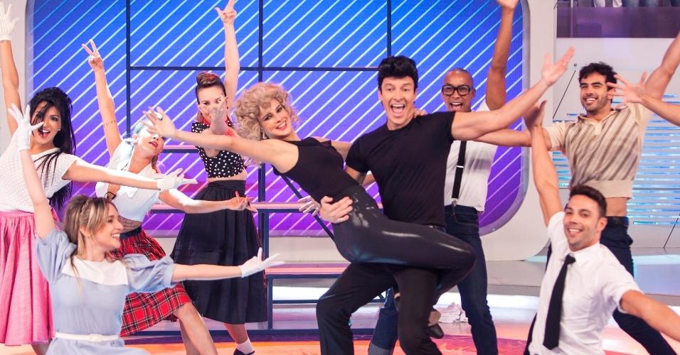 12.jun.2013 - Rodrigo Faro e Vera Viel dançam como casal protagonista de