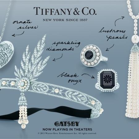 """A conceituada joalheria Tiffany & CO. participou do figurino de """"O Grande Gatsby"""" assinando joias para o filme. Quem quiser comprar, pode encomendar as peças em qualquer loja da marca - Divulgação"""