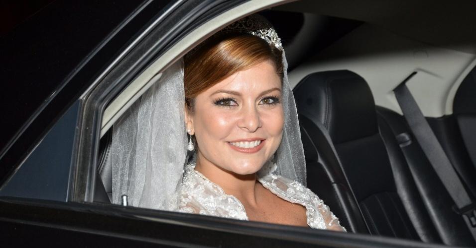 14.jun.2013 - Bárbara Borges se casa no Rio Janeiro