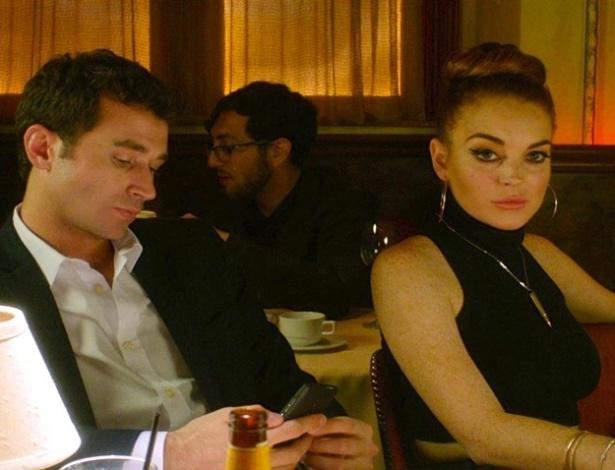 James Deen e Lindsay Lohan em cena de
