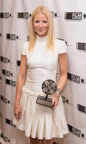 15.jun.2013 - Gwyneth Paltrow, que faz o papel de Pepper Potts, secretária e parceira de Tony Stark (Robert Downey Jr.) na franquia