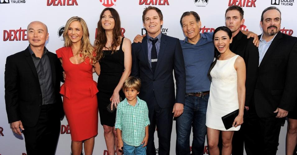 "16.jun.2013 - Elenco de ""Dexter"", promove a última temporada da série"