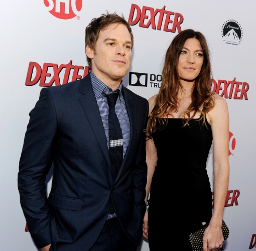 """16.jun.2013 -Michael C. Hall e Jennifer Carpenter promovem a última temporada de """"Dexter"""", que estreia em 30 de junho nos Estados Unidos"""