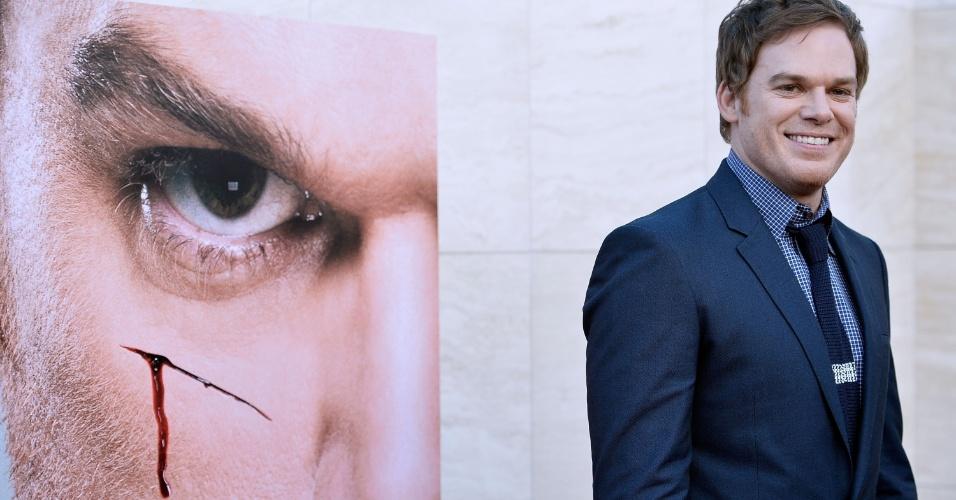 """16.jun.2013 -Michael C. Hall promove a última temporada de """"Dexter"""", que estreia em 30 de junho nos Estados Unidos"""