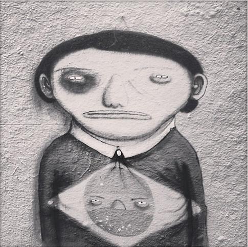 """17.jun.2013 - Os grafiteiros brasileiros osgemeos aderiram ao projeto """"Dói em Todos Nós"""", protesto fotográfico do fotógrafo Yuri Sardenberg. Nas imagens, os artistas aparecem com o olho roxo, referência aberta à repórter Giuliana Vallone, do jornal """"Folha de S.Paulo"""", que foi atingida por uma bala de borracha no olho durante as manifestações em São Paulo"""